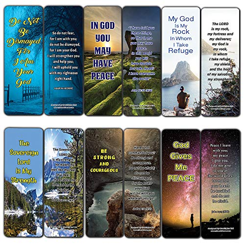 Price comparison product image Stand Strong in Uncertain Times Bible Bookmarks (12-Pack) - Collection of Bible Verses