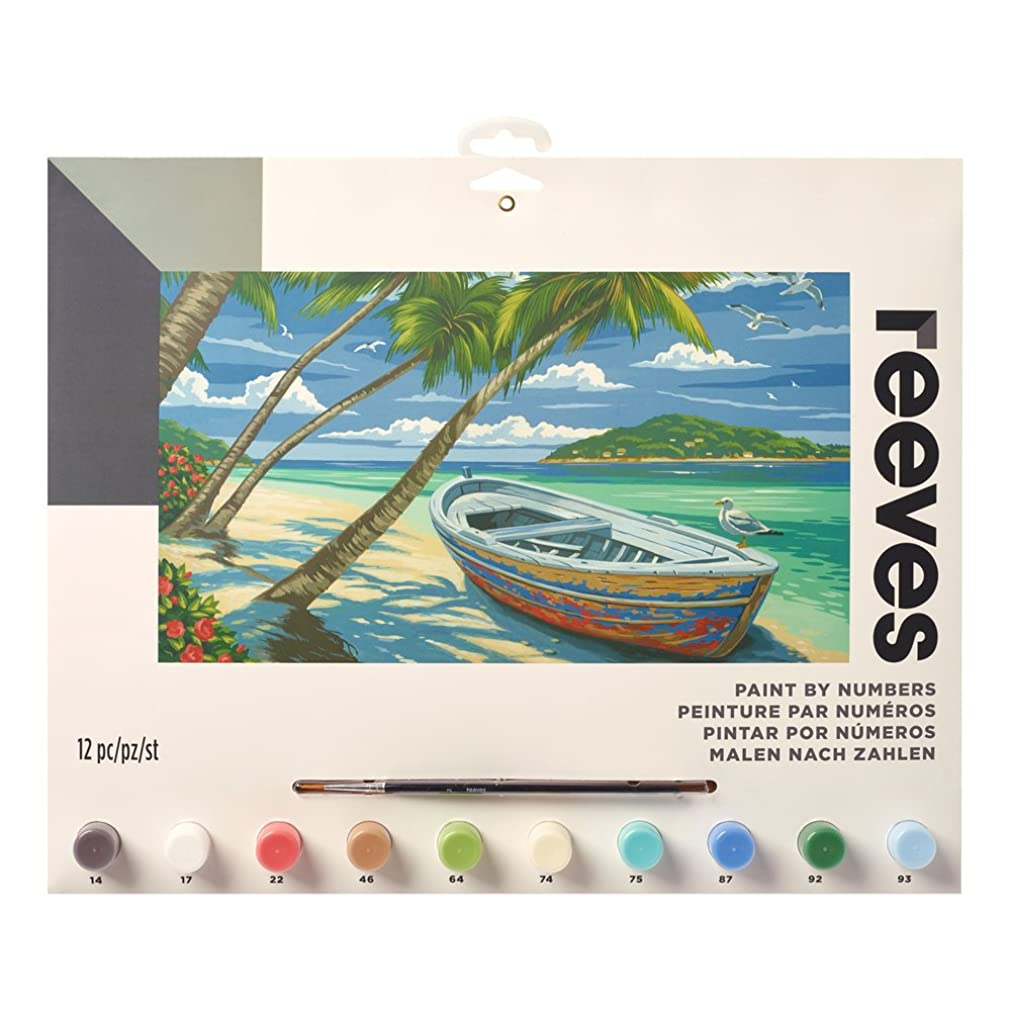 "Reeves Paint by Numbers 12"" x 16"" , Tropical Beach xnwewox08331164"