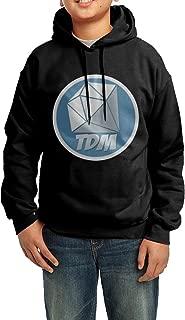 CIA Dronダニエル・ミドルトンDanTDMロゴユースの美しいフード付きセーターブラック