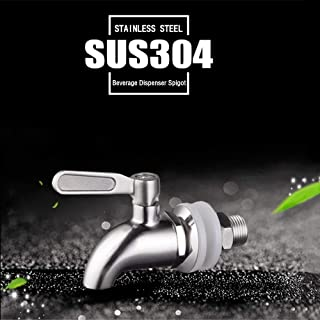 """Beverage Dispenser Replacement Spigot, SUS304 Stainless Steel 5/8"""" or 16mm, Polished Finished, Dispenser Replacement"""