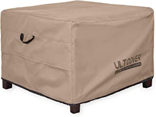 ULT Cover Waterproof Patio Ottoman Cover Square Outdoor Side Table Furniture Covers Size 22L x 22W x 18H inch