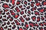 Cordstoff, Leopardenmuster, Kordel, Rot