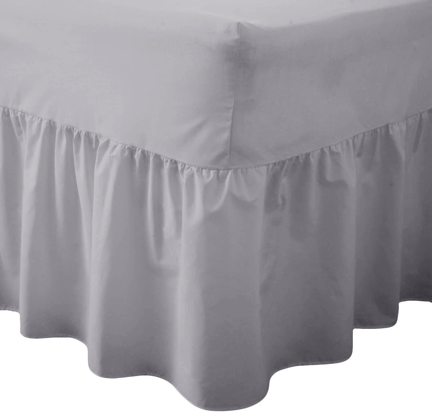 Double, Royal Blue AmigoZone Plain Pollycotton Valance Fitted Sheet Or Pillow Pair Cases