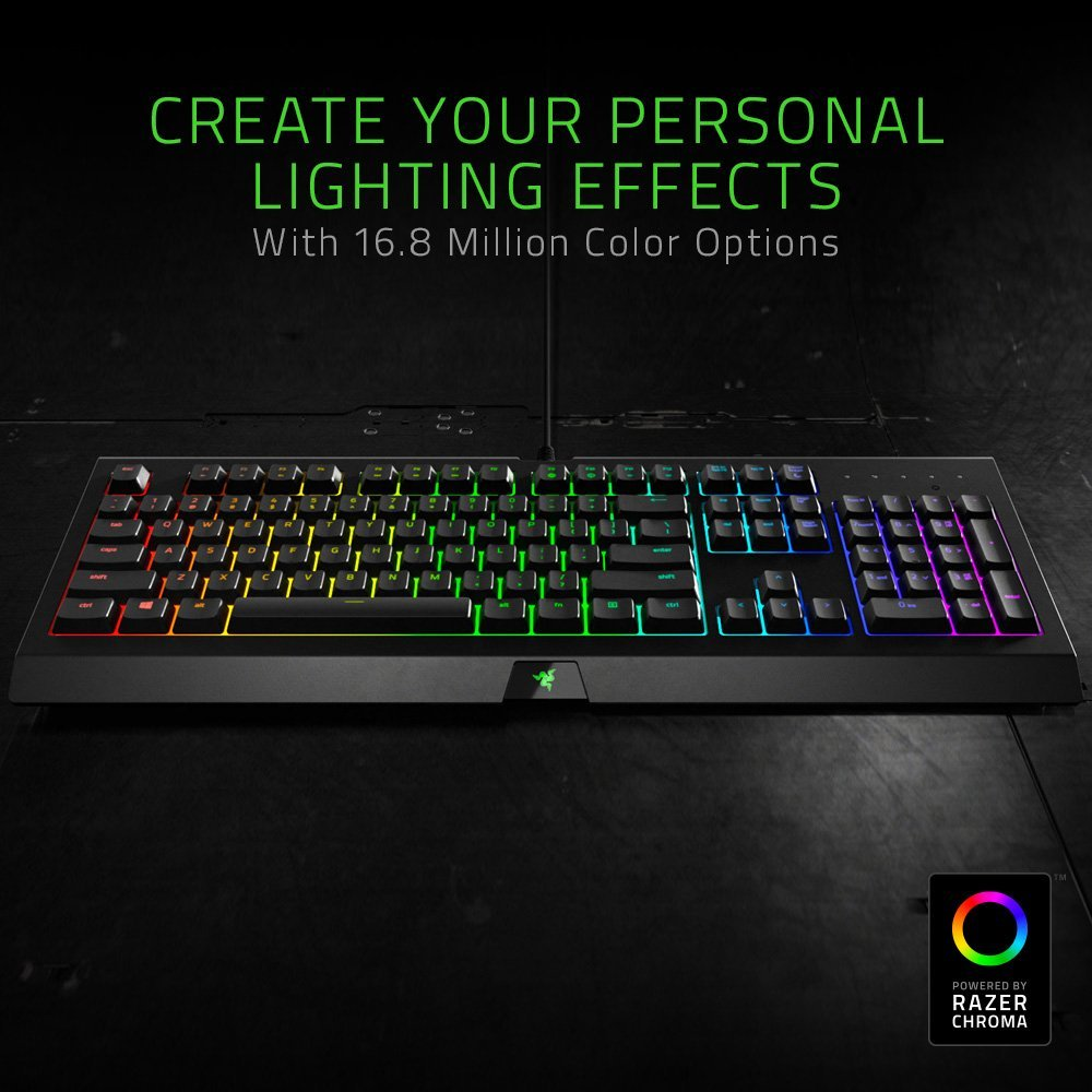 Razer Cynosa Chroma - Multi-color RGB Gaming keyboard - Individually Backlit Keys - Spill-Resistant Durable Design - RZ03-02260200-R3U1 (Renewed)