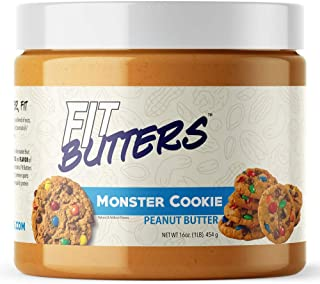 High Protein Peanut Cookie Butter – Legendary Low Carb PB Nut Butter Spread with Whey Protein Isolate by Fi...