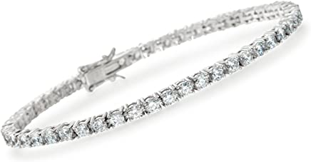 Ross-Simons 5.00-5.50 ct. t.w. CZ Tennis Bracelet in Sterling Silver