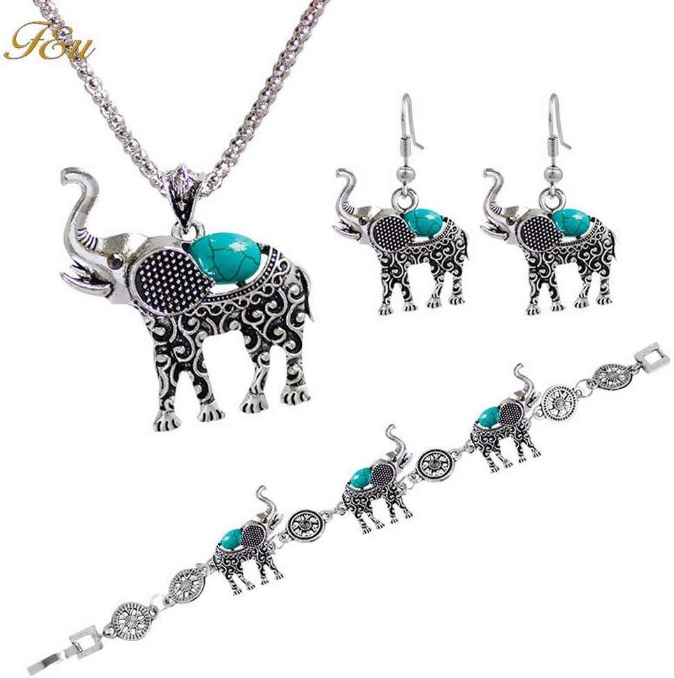 Urns Ashes Funeral Fashion Necklace Earrings Bracelet Metal Bohemia Elegant Women Jewelry Set Elephant Pendant Necklace Earrings Bracelet,Colour:Black Pet Memorial Dog cat Urn (Color : Blue)