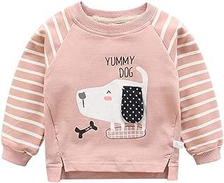 MiyaSudy Baby Boy Cartoon Hoodie Sweatshirts Tops Newborn Kids Hooded Sweater Hoodies Outdoor Outfit T-Shirt 6-24 Months