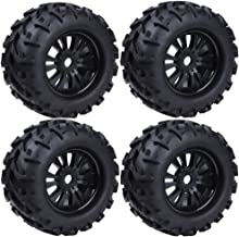 4-Pack 1/8 Monster Truck RC Wheels Rim and Tires with Foam Inserts 17mm Hex Hub Tyre Set for Traxxas HPI Baja HSP Redcat Racing