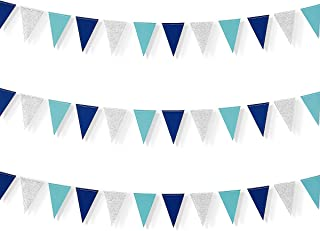 blue triangle flag