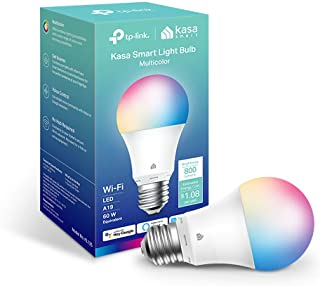New Kasa Smart Bulb, Full Color Changing Dimmable Smart WiFi Light Bulb Compatible with Alexa and Google Home, A19, 9W 800...