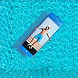 Freein 8'2''Air Floor Inflatable Floating Yoga Mat Air Track Tumbling for Gymnastics Inflatable Stand Up Paddle Board Blue Fit Mat