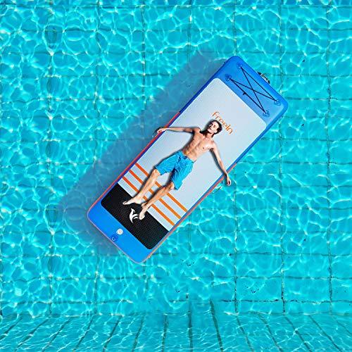 Freein 8'2''Air Floor Tapis de Yoga Flottant Gonflable Air Track Tumbling pour Gymnastique Gonflable...