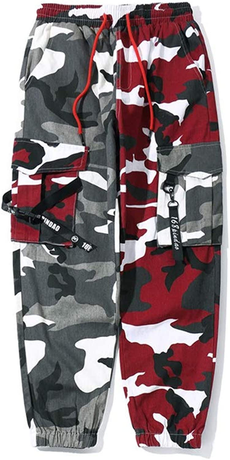 Men's New Multi-pocket Hip-hop Casual Feet Camouflage Trousers