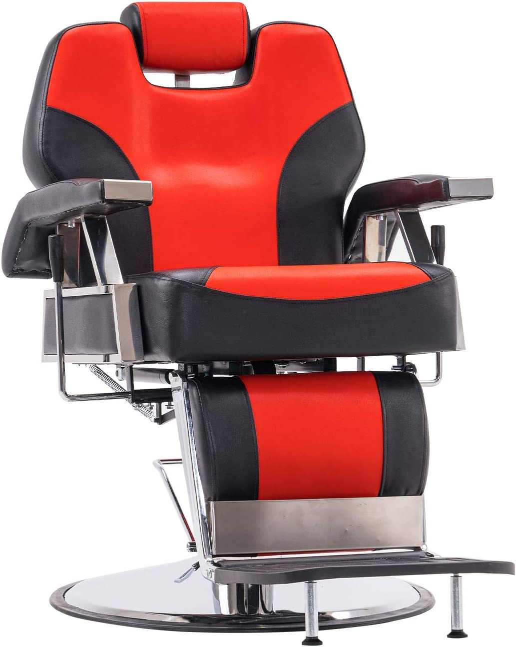 BarberPub Heavy Duty Safety Max 75% OFF and trust Recline Barber Chair All Purpose Hydraulic