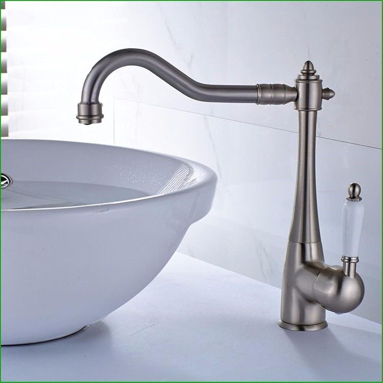 NewBorn Faucet Wasserhhne Warmes und Kaltes Wasser groe Qualitt der Copper-Wire Einzigen Griff Einzelne Bohrung und Kaltes Wasser Leitungswasser Becken antiken Tisch Becken Washceramic Griff
