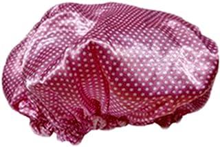 Double Layers Reusable Waterproof Shower Cap Spa/Bathing Cap Cooking Hat Pink