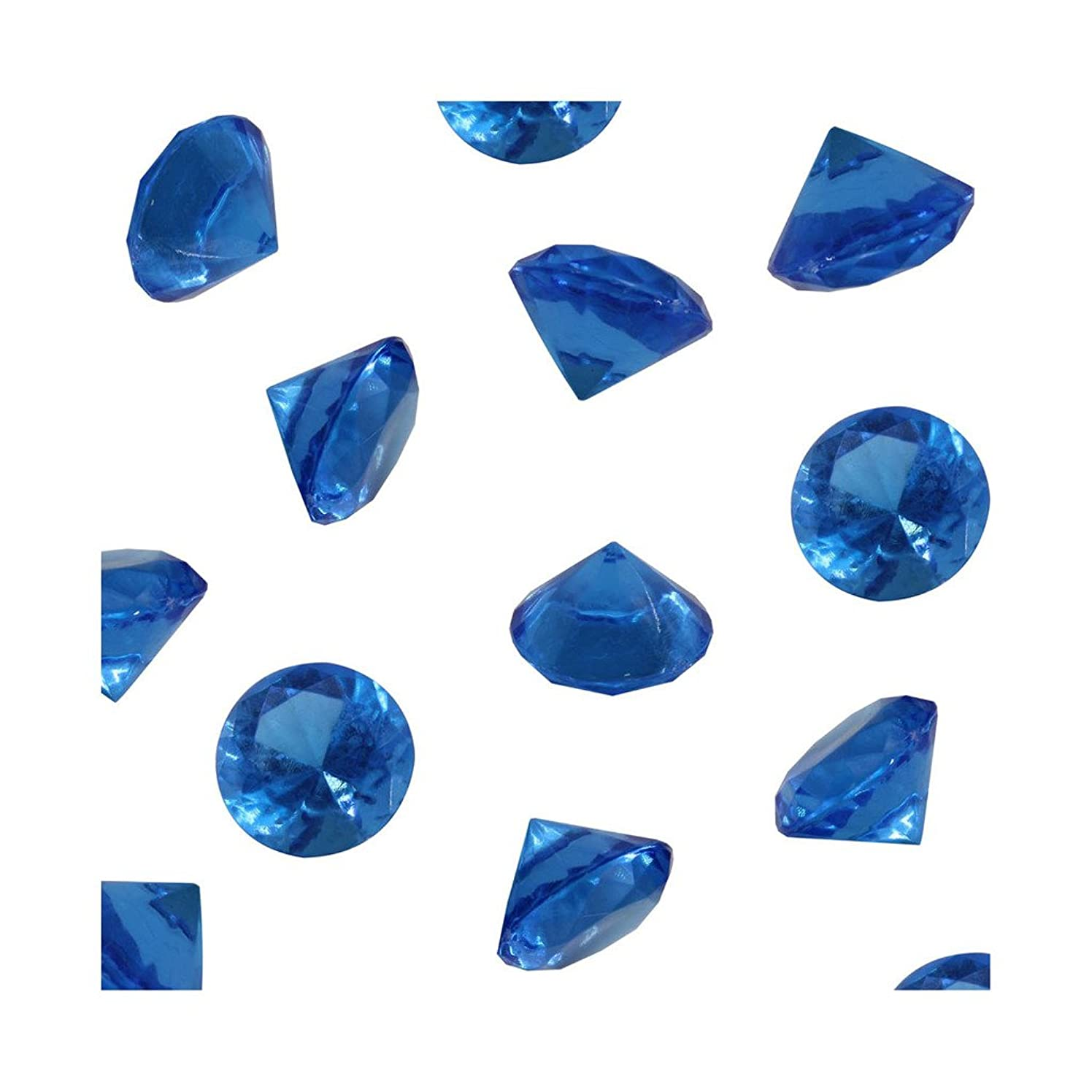 Royal Acrylic Diamond Vase Fillers 1 Pound - 240 pcs 3/4 Inch Wedding Party Event Banquet Birthday Decoration Crystals Gem Table Scatters (Royal, 240 pcs)