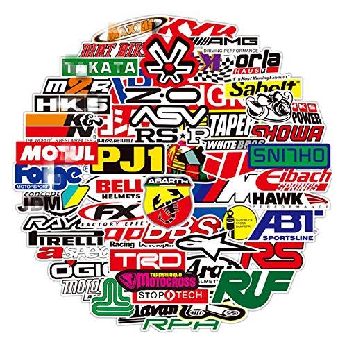 RUIRUI 100 pegatinas de carreras para coche, impermeable, para motocicleta, casco de carreras, patinaje, bicicleta, portátil, PVC, para equipaje