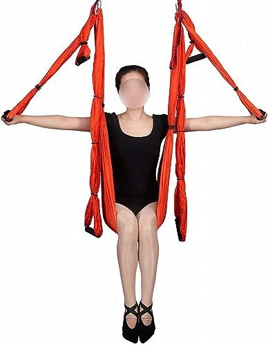 Fusanadarn Hamac de Yoga aérien de gravité Hamac de Tissu de Parachute Lit d'air intérieur de Studio de Yoga de Haute qualité (Couleur   2)