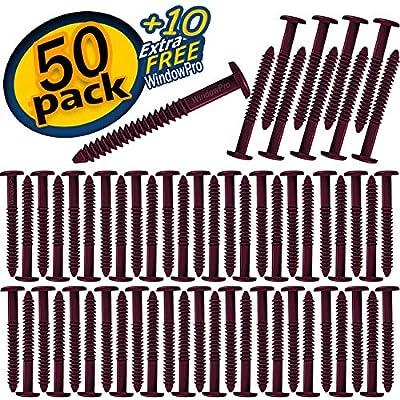 "WindowPro 60 Pack Shutter Pegs 3"" Spikes Fastener Loks"