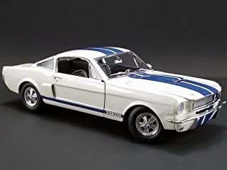 New DIECAST Toys CAR Acme 1:18 1966 Shelby GT350 Supercharged (White with Blue Stripes) A1801833