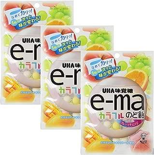 e-ma Cough Drop Colorful Fruit Change Bag Type 3pcs Japanese Throat Candy Lotte Ninjapo