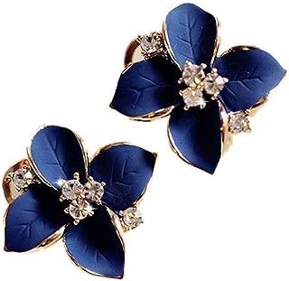 Demarkt 1PCS Cute Earrings Ladies Blue Three-Dimensional Frosted Crystal Earrings