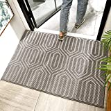 Non-slip Dirt Trapper Door Mat 50 x 80 cm, Machine Washable Soft Doormat Barrier Rug Entrance Rug for Front Back Door, Indoor, Entryway, Hallway