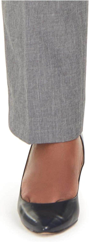 Anne Klein Womens Gray Straight Leg Wear to Work Pants Size 24W