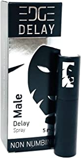 EDGE Delay Spray for Men - No Lidocaine | No Numbing | All Natural Climax Control - Full Sensations for Man - Male Genital Desensitizer Spray - Prolong Sех | Prevent Premature Orgasm - 50 Sprays