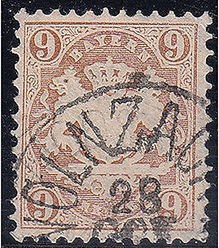 Goldhahn Bayern Nr. 28 X gestempelt geprüft Briefmarken für Sammler