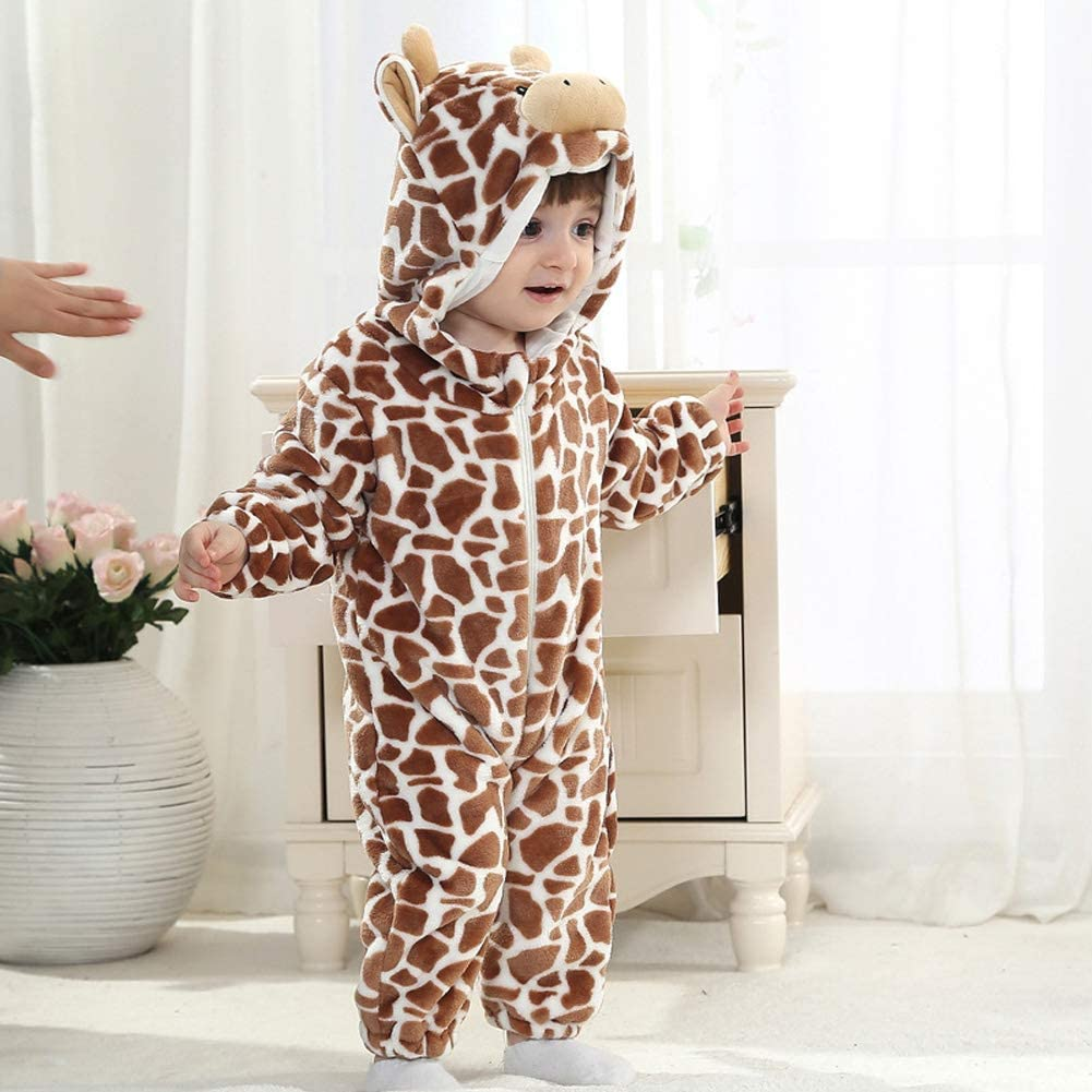 Tonwhar Unisex-Baby Animal Onesie Costume Cartoon Animal Outfit Homewear Baby One-Piece Rompers