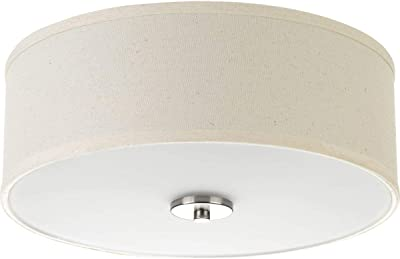 Progress Lighting P3713 09 Inspire Two Light Flush Mount Brushed Nickel Home Improvement
