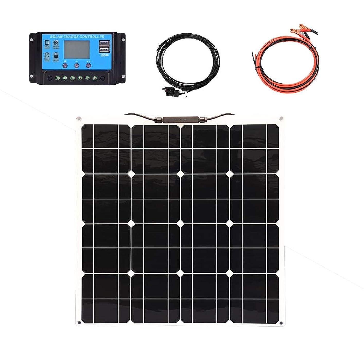 露欠陥後退する100Wポータブルフレキシブルソーラーパネル、ホームソーラーパワーシステム、キャンプカー用ソーラー充電器セルエネルギーシステム