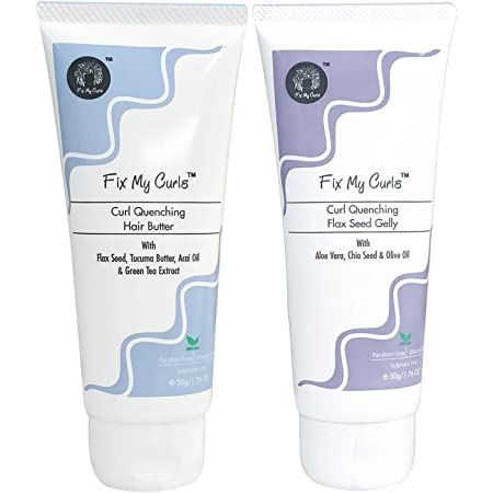 Fix My Curls Curl Quenching Moisture Bundle For Curly And Wavy Hair, 50 G Each
