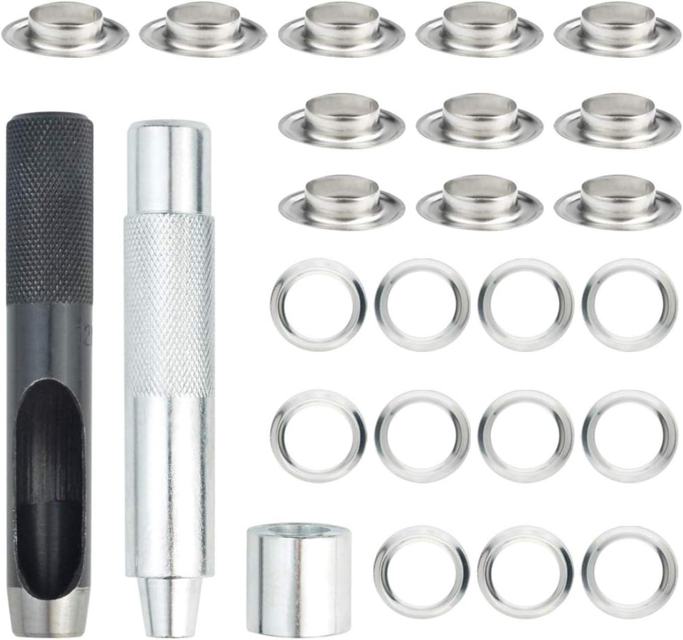100 Sets Grommet Tool Kit (1/2 Inch Inside Diameter),Grommet Set