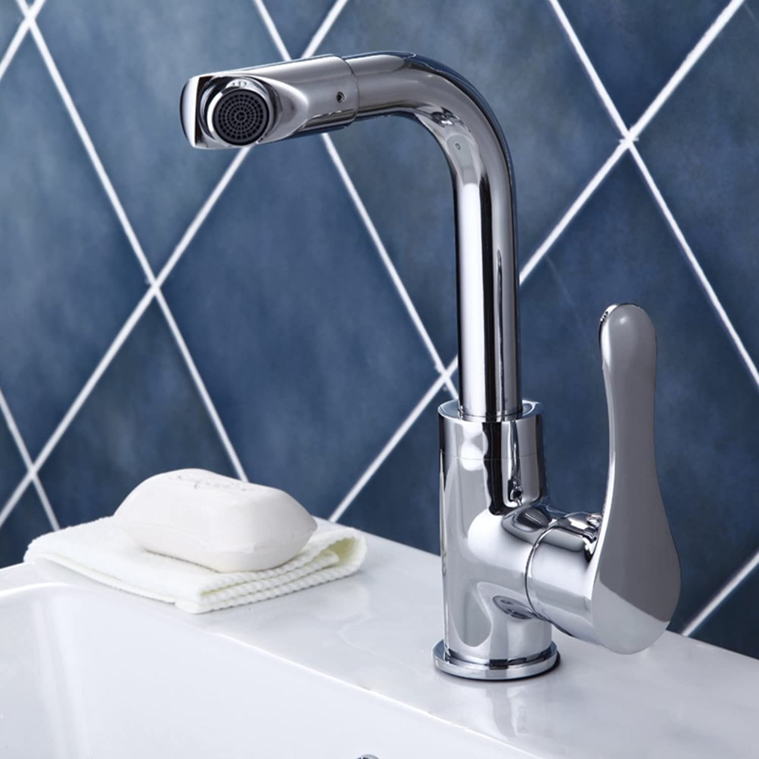 ZHF All-copper hot and cold tap Kitchen Faucet Vegetables basin faucet redary sink faucet