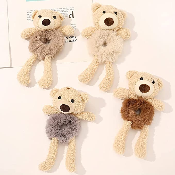 Amazon.com : Scrunchies Hair Ties for Teen Girls Fur Bear Cute Scrunchie Ligas Para el Cabello De Mujer Decorations Ponytail Hair Scrunchy Hair Accessories Gift for Girls : Beauty & Personal Care