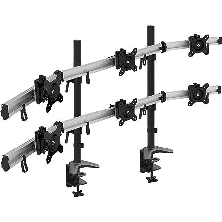 Hftek 6 Fach Monitorarm Tischhalterung Für 3 3 Computer Zubehör