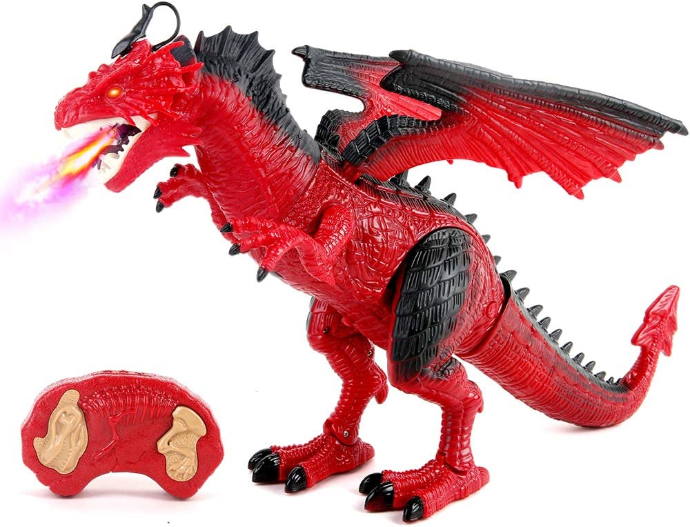 Remote Control Dinosaur Red Quality inspection Alternative dealer Dragon Figures Learning Realistic L