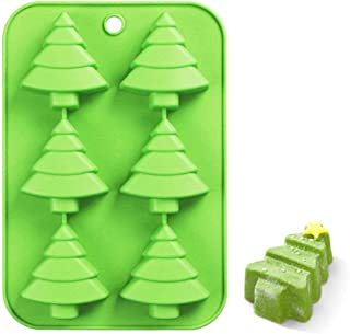 Efivs Arts 6 Christmas Tree Silicone Cake Baking Mold Cake Pan Handmade Soap Moulds Biscuit Chocolate Ice Cube Tray DIY Mo...