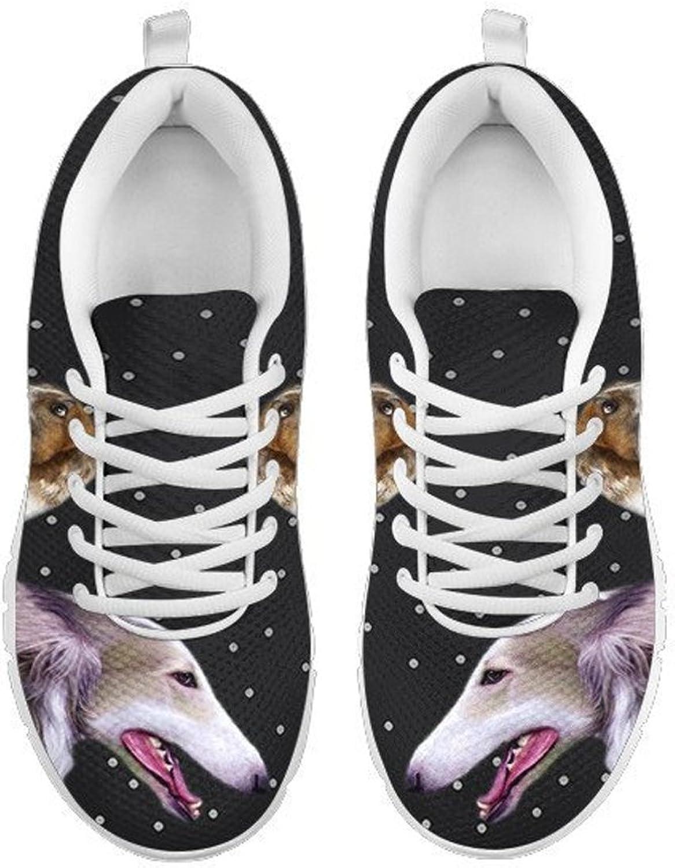 Petkanvas Borzoi Dog Print Women's Running shoes White