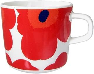 マリメッコ marimekko ウニッコ UNIKKO マグカップ ホワイト レッド 200ml 63429 001 【並行輸入】 63429 001