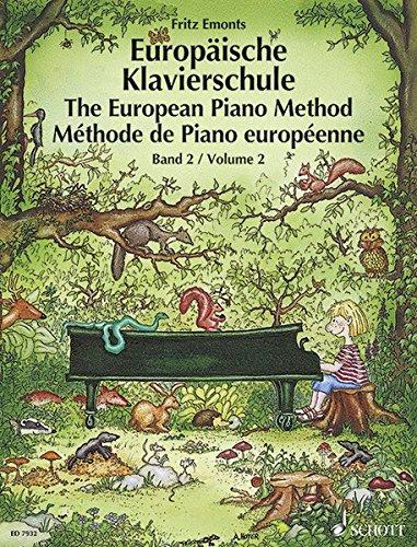 Europäische Klavierschule, Bd.2: German/French/English