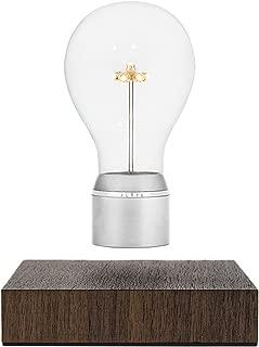FLYTE Manhattan - Original, Authentic Floating Levitating LED Light Bulb Lamp (Walnut Base, Chrome Cap Bulb)