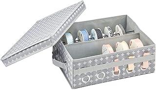 mDesign Boite de Rangement Rubans Cadeau – Panier de Rangement à 2 Compartiments, 2 tiges et 10 Ouvertures à dérouler Les ...