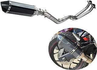 Kemimoto Exhaust Full System Low Mount Baffle Muffler Fits Yamaha R3 R25 MT03 MT25 2015 2016 2017 2018