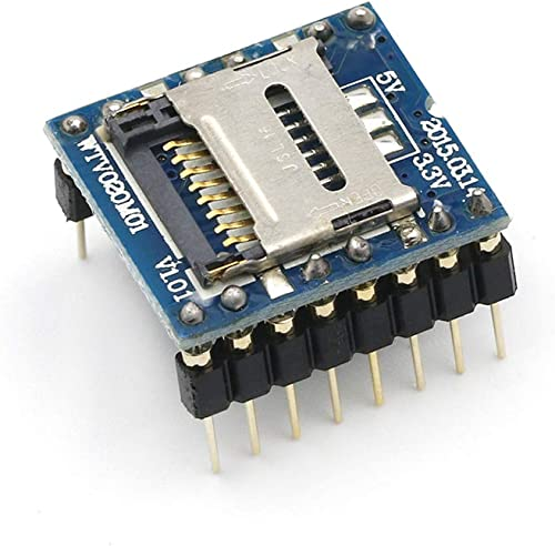 HiLetgo WTV020-SD U Disk Audio Player MP3 Sound Module Voice Module with SD Card Slot UART 232 for Arduino