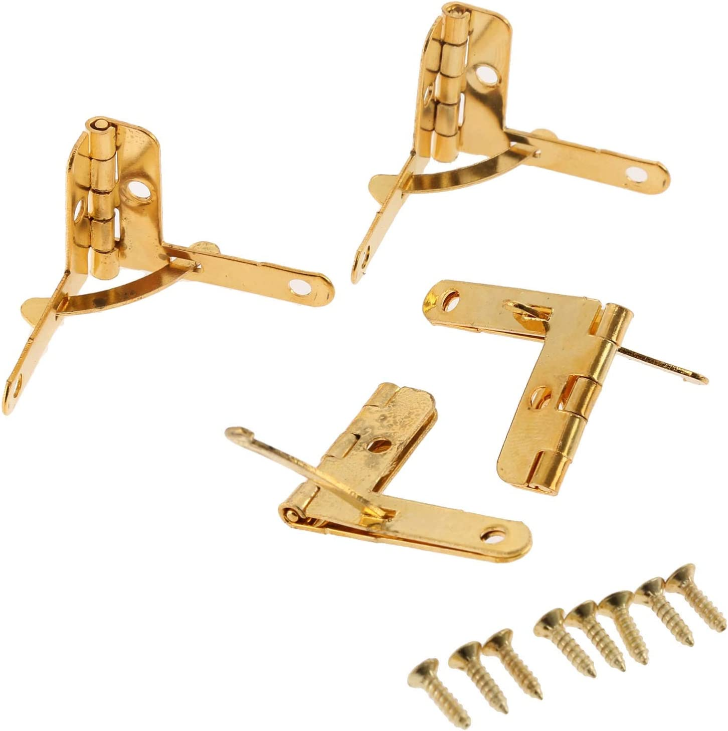 Spring new work 4Pcs 2822mm Antique Furniture Door 90 Support Angle Degree Milwaukee Mall Hinge